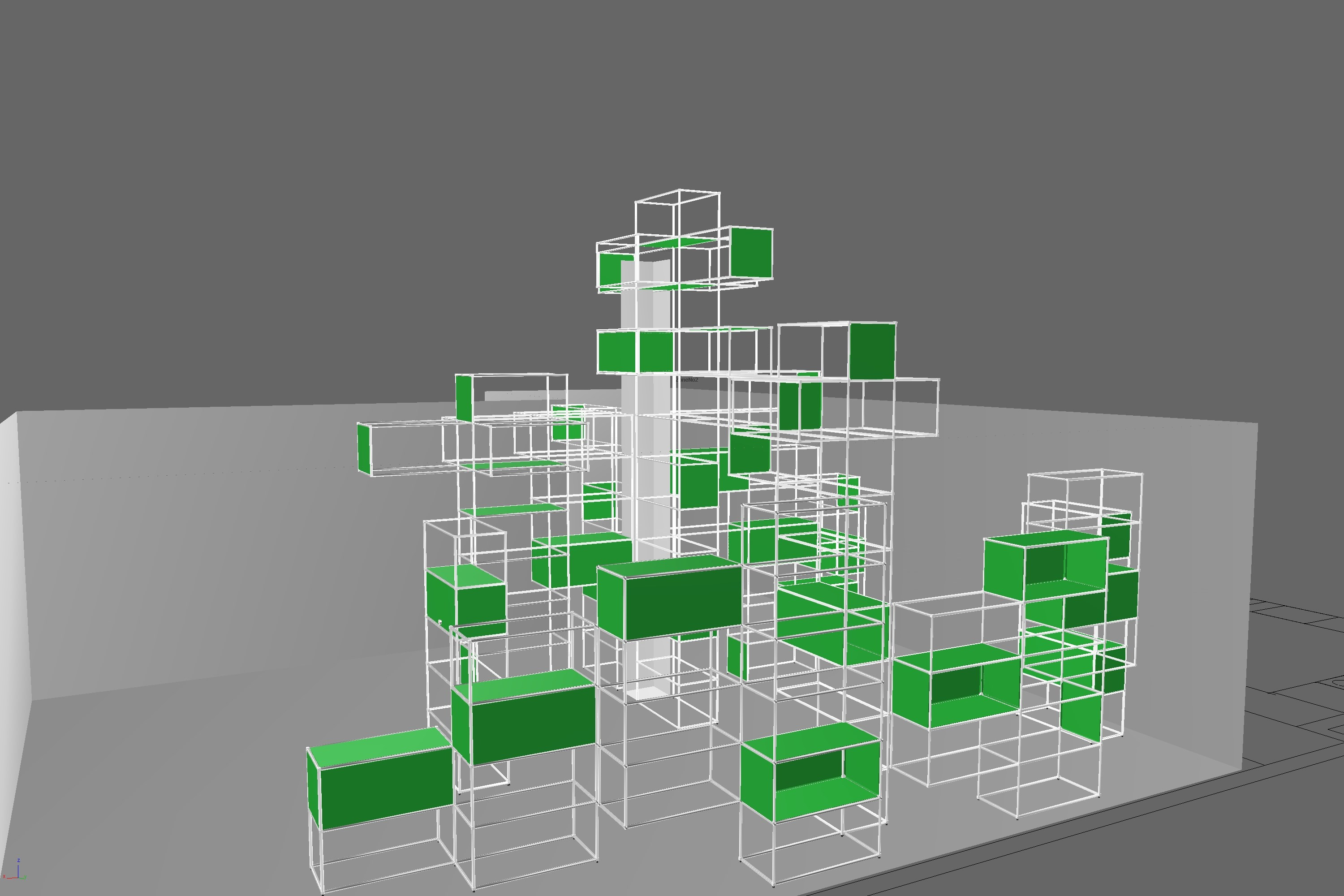 USM Haller schematic plans in green