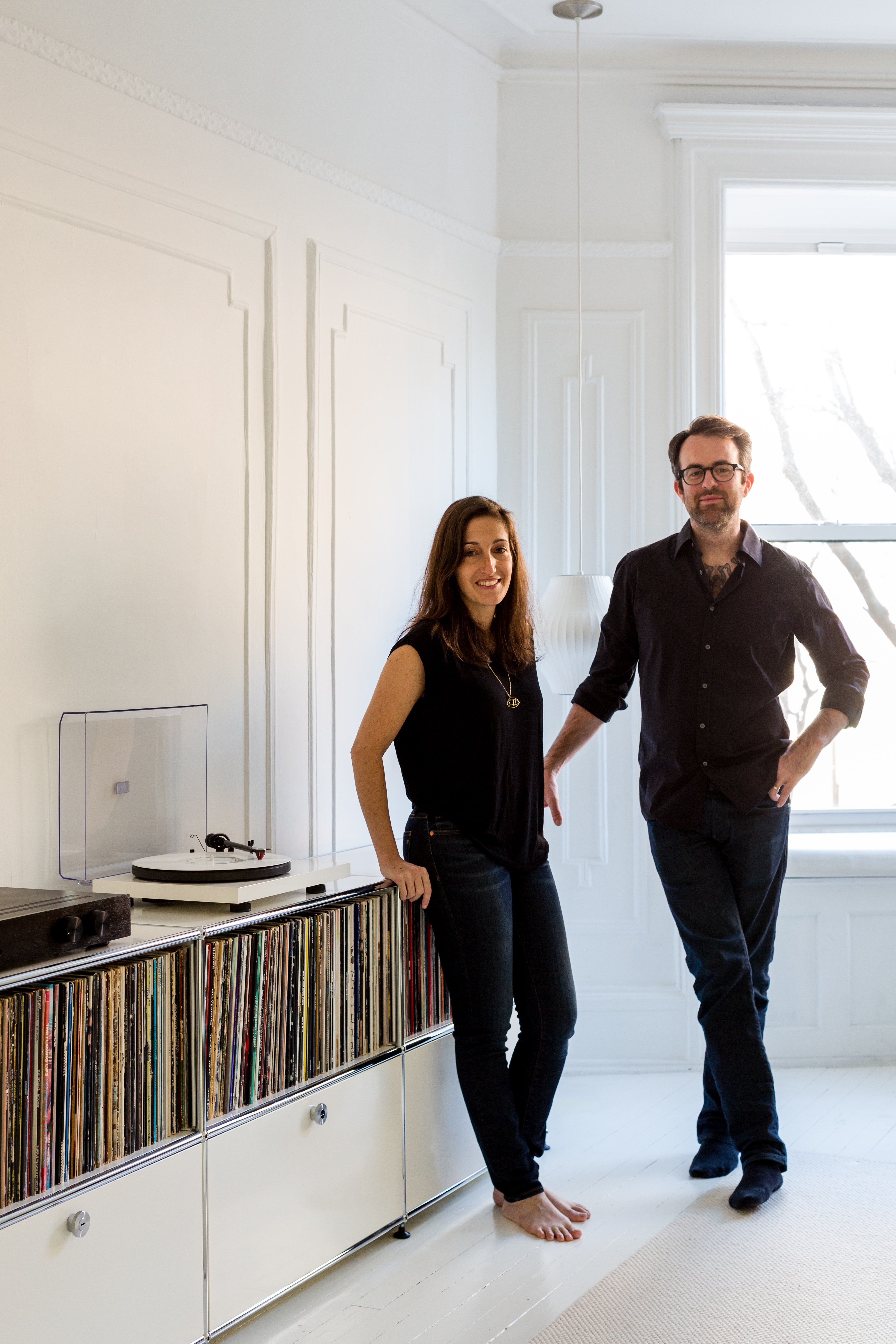 ed and barbara parker showcase their architects making use of the USM Haller media cabinet