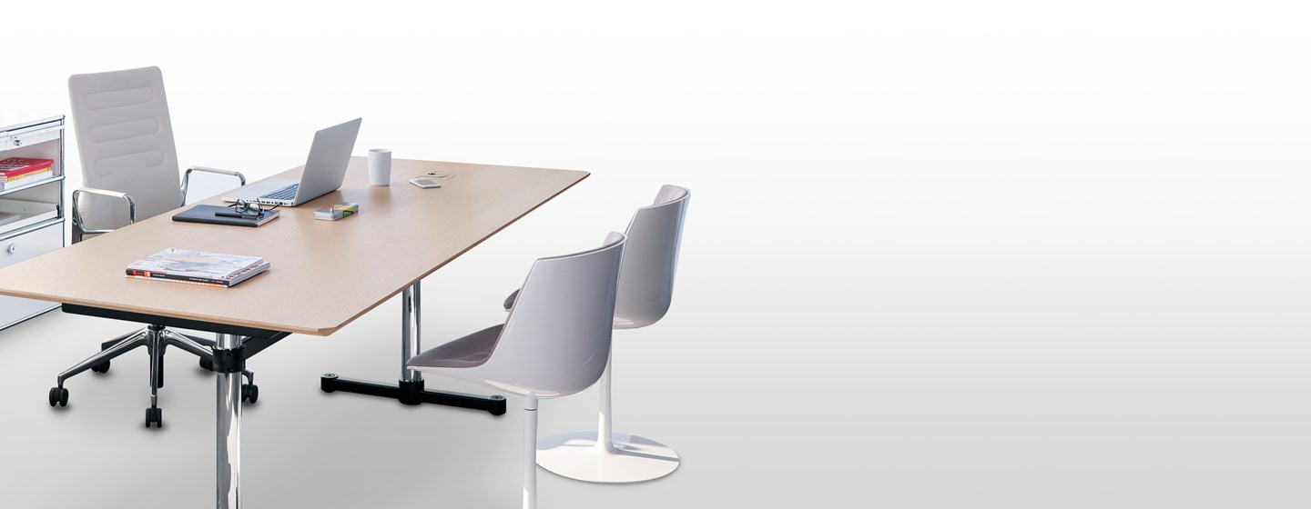 wooden modern height adjustable USM Kitos Meeting table