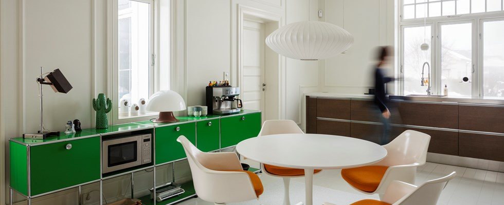 USM Haller family kitchen furniture in use