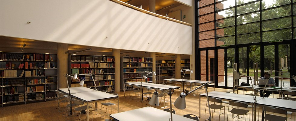 USM Haller tables in Tiraboschi Library
