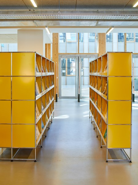 USM Haller yellow bookcase