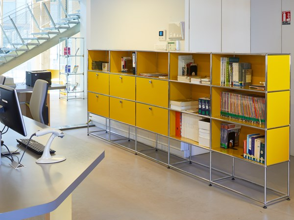 USM Haller yellow storage