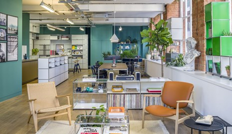 innovative open plan office, lounge and casual meeting space